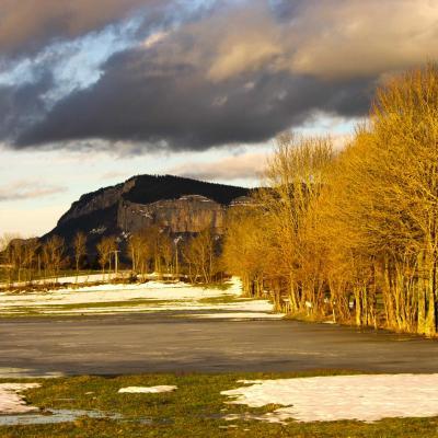 59 JLV couleurs du soir sur Roche Rousse depuis les Finets (La Chapelle en Vercors)