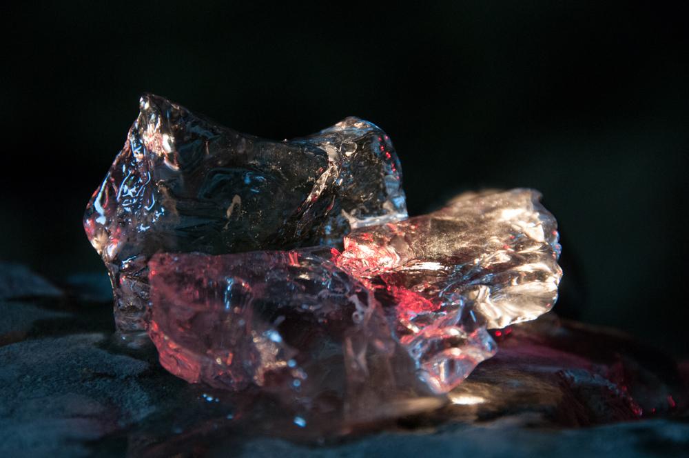 Glaces et couleurs dans la glacière de Font d'Urle