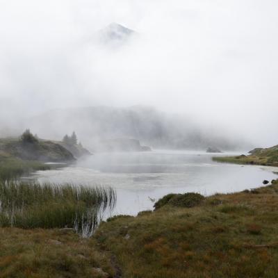 Brumes au Lac Fourchu (Taillefer)