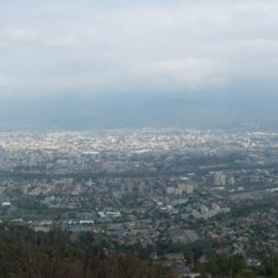 Site de la Tour sans venin à Saint nizier... Vue sur Grenoble