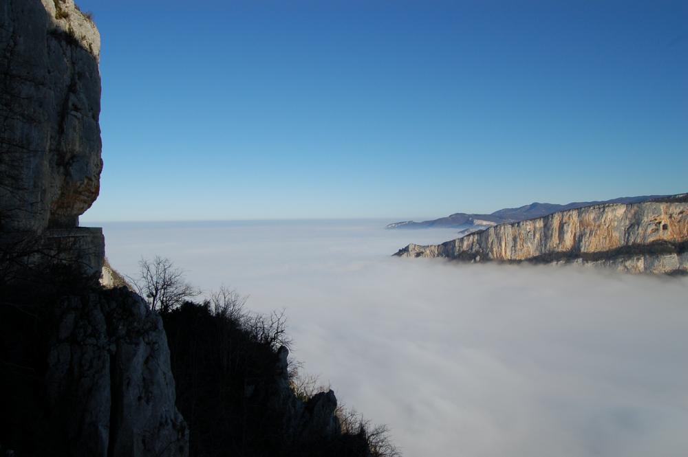 Mer de nuage sur Combe Laval
