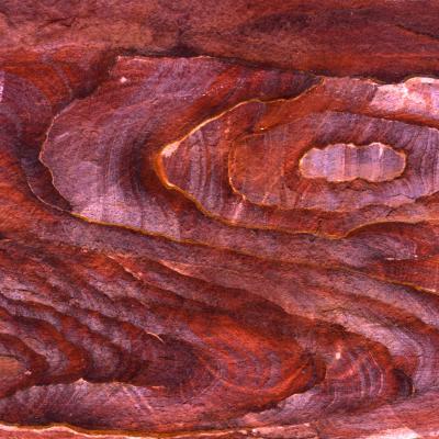grès colorés, pétra