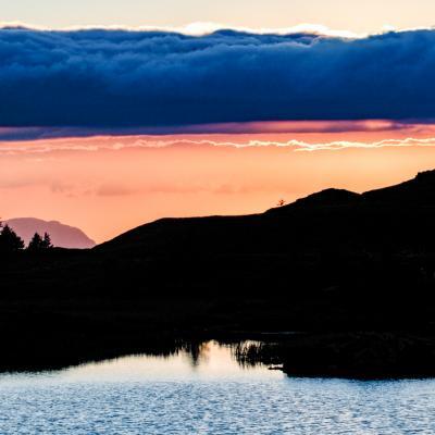 Coucher de soleil lac Fourchu