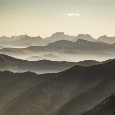 Vue sur Italie du Col Agnel Queyras