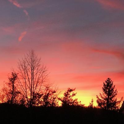 coucher de soleil à St Julien en Vercors