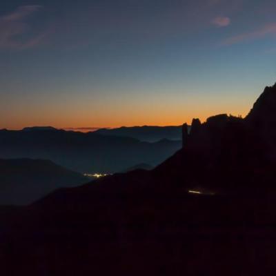 Fin de journée sur le Col de Rousset