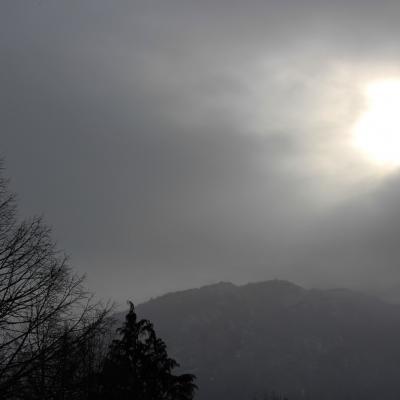 percée de soleil en hiver