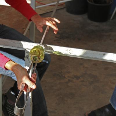 travail du verre souflé lans en vercors