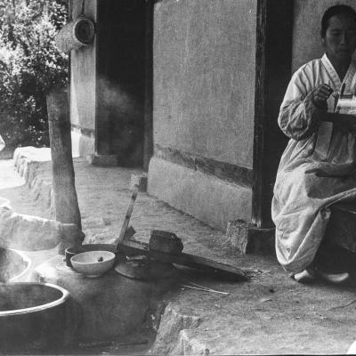 filage traditionnel de la soie en Corée du sud