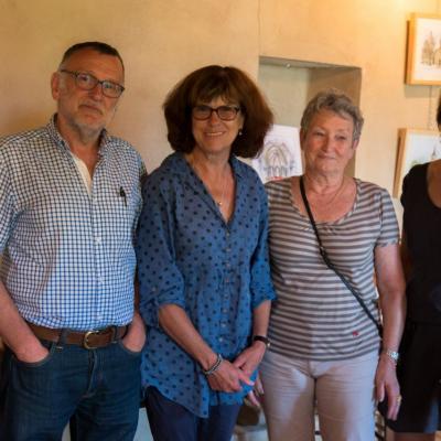 Kate avec Claude Antelme, Danièle Bouvier et Isabelle Vignon, élus du Royans
