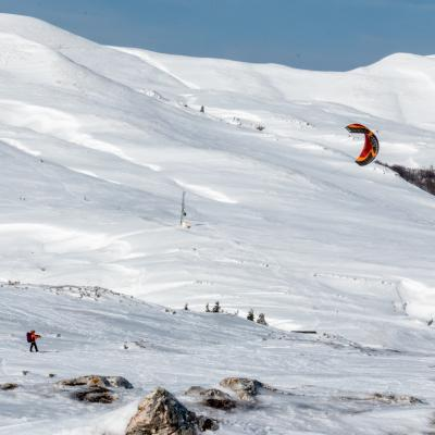 Kite skiing sur les gageres 2877