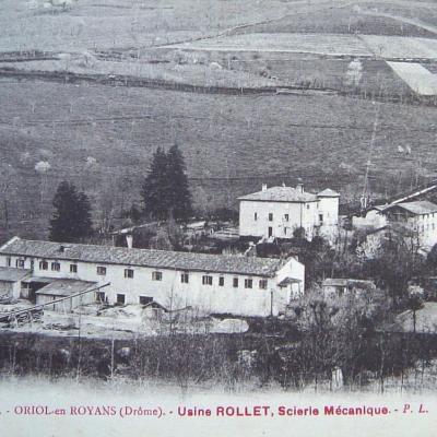 Oriol en Royans Usine Rollet Scierie mécanique