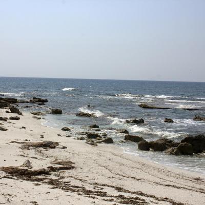plage de cailloux blancs