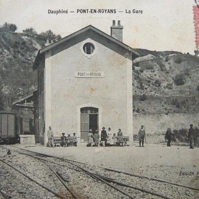 Pont en Royans la gare