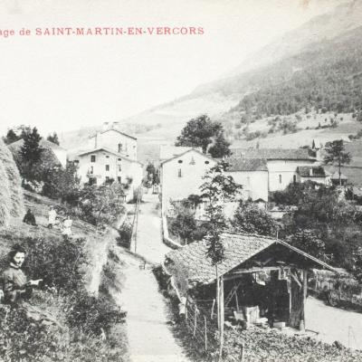 Saint Martin en Vercors Sud du village