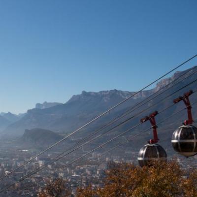Les bulles de Grenoble... Photo Carte postale