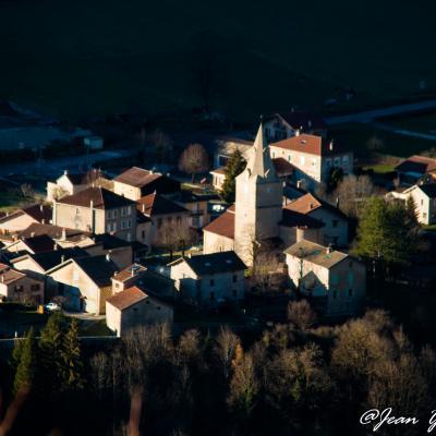 St Agnan vu du Chemin Carleti en fin de journée