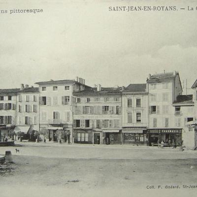Saint Jean en Royans la grande place