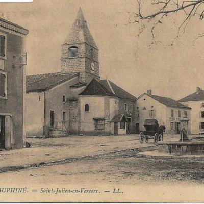 Saint Julien en Vercors café brochier eglise
