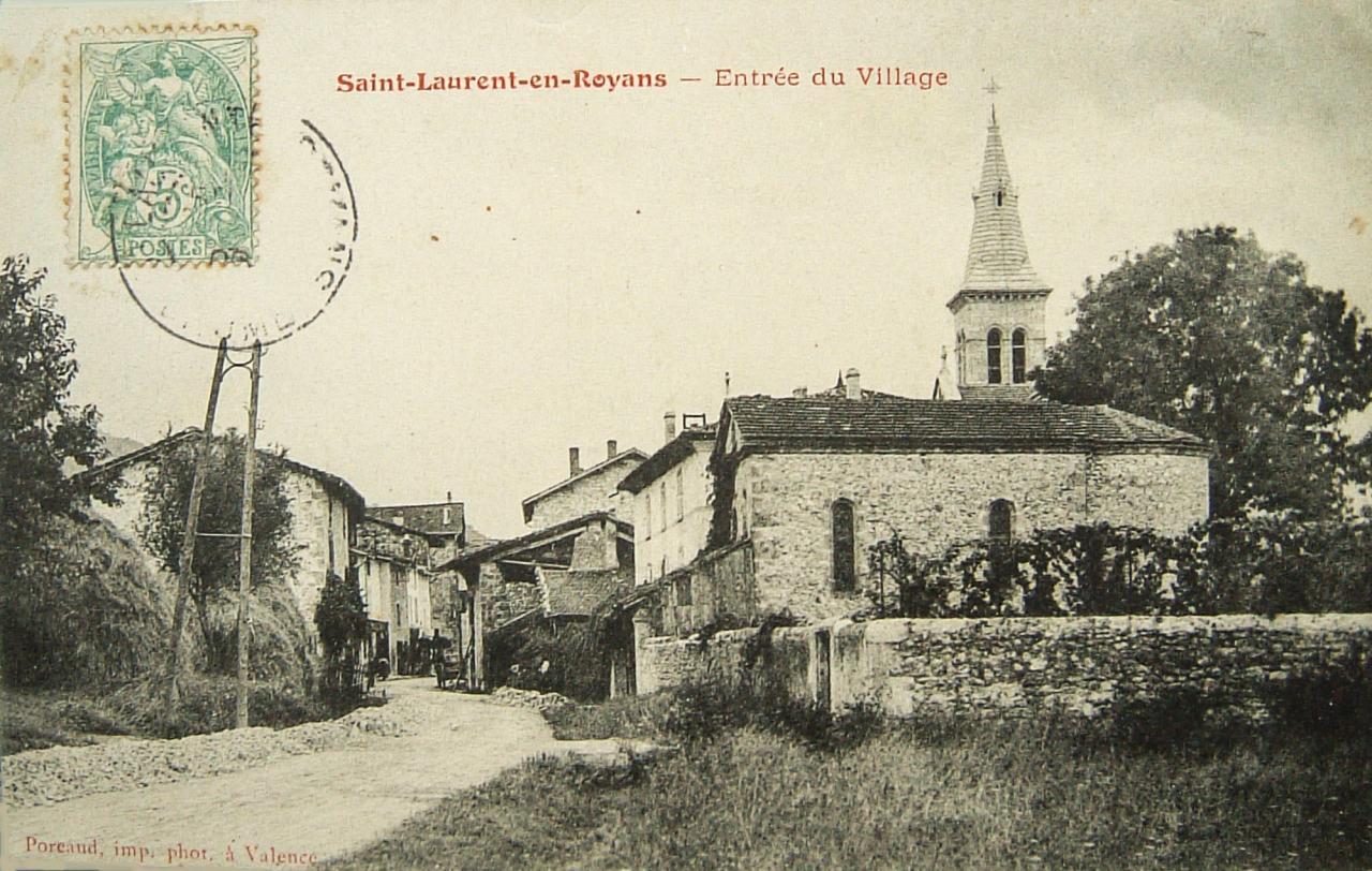 Saint Laurent en Royans Entrée du village