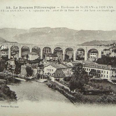 Saint Nazaire en Royans l'acqueduc du canal de la Bourne